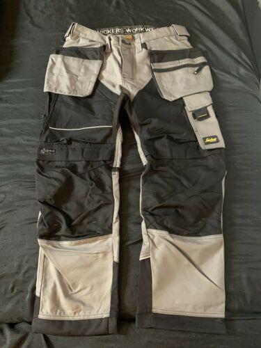 Mens Snickers Work Trousers With Holster Pockets Size 34W X