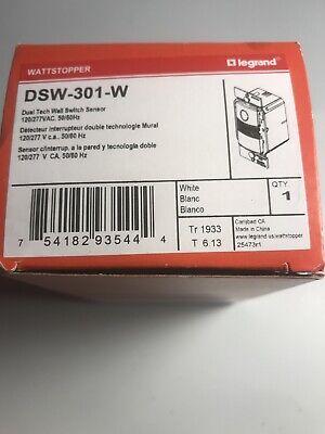 New Wattstopper Dsw-301-w Dual Tech Wall Switch Sensor 120277vac 5060hz White