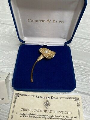 Camrose & Kross Jacqueline Jackie Kennedy Collection Golden Bloom Petal Brooch Jackie Kennedy Collection