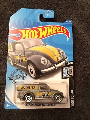 New 2020 Hot Wheels Gray Mooneyes 49 VW Beetle Truck Dollar General Exclusive NM
