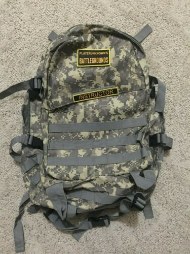 Pubg Level 3 Backpack with 2 Velco patches! Instructor and Playerunknown!