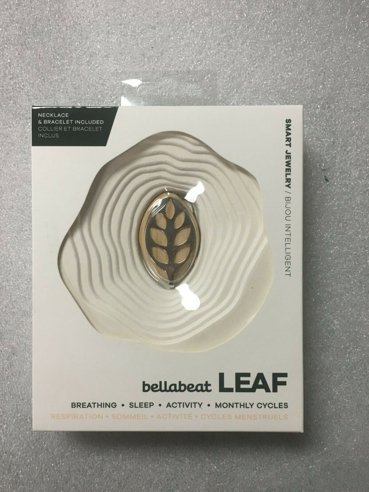 Bellabeat Leaf Nature Health Tracker Smart Jewelry Silver Op