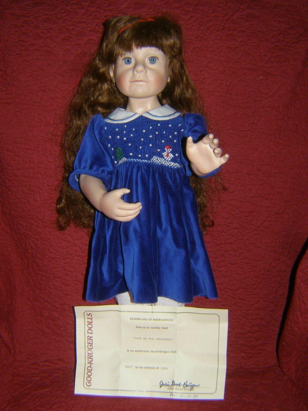 GOOD-KRUGER Love Me For Christmas Ltd Ed 267 21 Inch Doll - $58.99