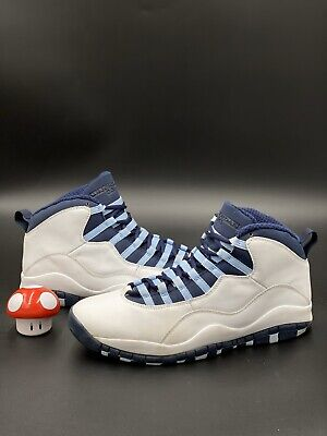 Nike Air Jordan Retro X 10 Obsidan Ice Blue White 2005 Size 11 310805-141