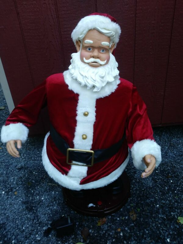 """Huge Singing Dancing Mechanical Santa Claus 36"""" Made by Gemmy Animated"""