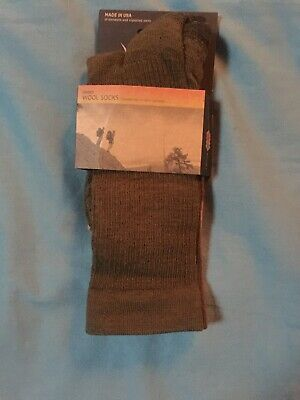 New Ibex Unisex Wool Socks Large Solid Ribbed Acorn