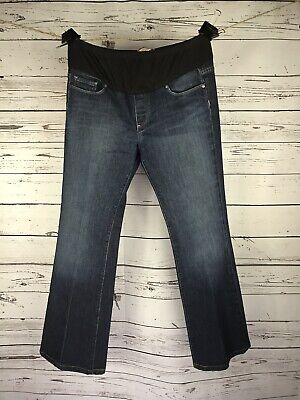 "Women's Paige Premium Laurel Canyon Maternity Jeans Boot Size 31x30 ""Exc Cond"" ()"