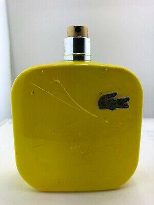 Lacoste Eau De Lacoste L.12.12 Jaune Cologne MEN 3.4 oz EDT - No Box 80% Full
