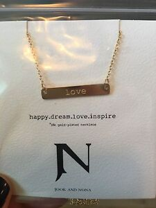 Jook and Nona 'love' necklace