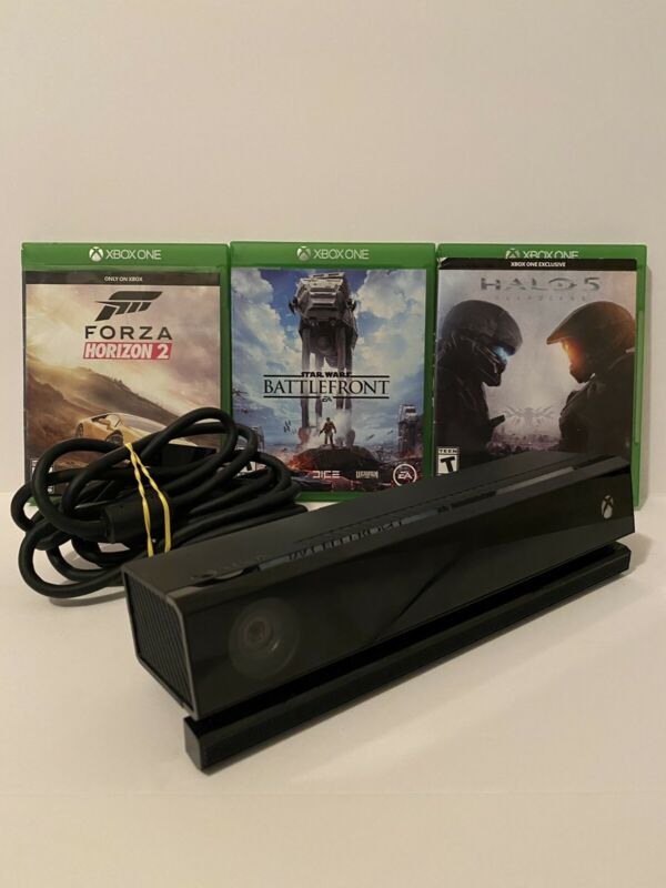 Original Microsoft Xbox One Kinect Connect Sensor Camera Bar -Tested + Games