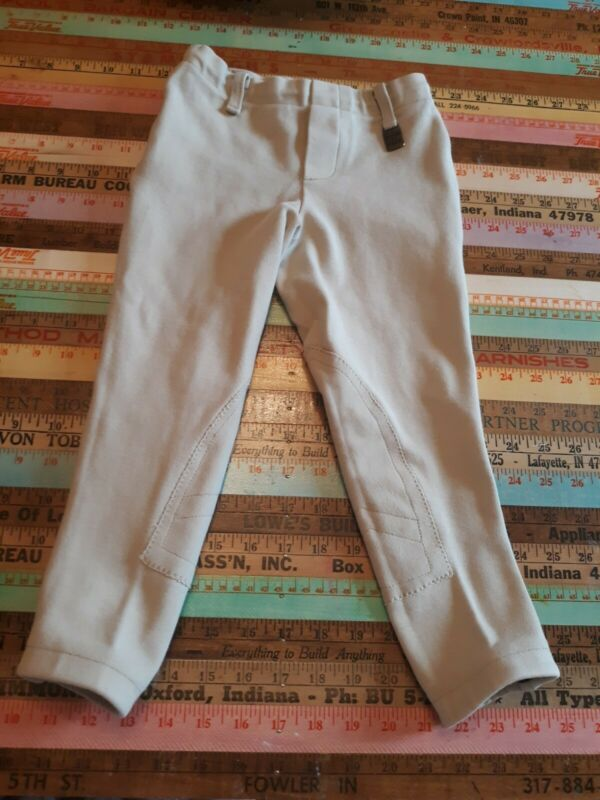 DEVON AIRE Girls Horse Riding Equestrian BREECHES Small SML S PULL ON  Beige XS