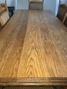 Zimbabwean oak table 8 chairs & buffet QUALITY Rossmoyne Canning Area Preview