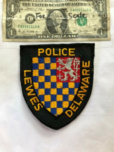 Lewes Delaware Police Patch Un-sewn in great shape