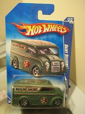 Hot Wheels 1:64 2009 Modified Rides Redline Racing Green Dairy Delivery