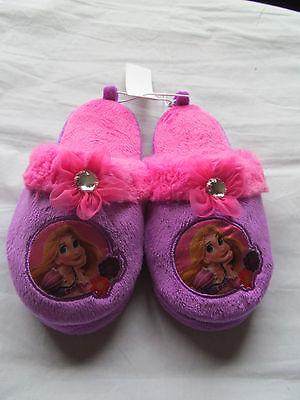 NWT Girl's Disney Tangled Rapunzel Purple,Pink Slip on Slipper Shoe Size 11/12