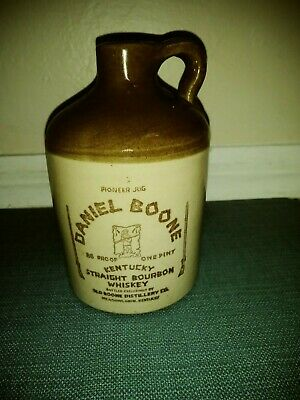 "Vintage Daniel Boone Pioneer Jug Kentucky Straight Bourbon Whiskey "" GREAT ITEM"