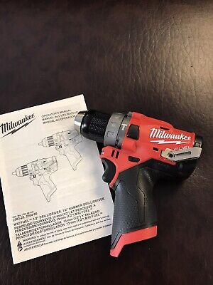 New Milwaukee M12 Fuel 12 Inch Brushless Hammer Drill Driver - 2504-20