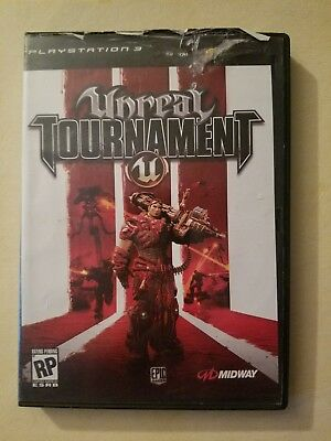 Rare Unreal Tournament III Playstation 3 PS3 Video Game Stop Display case