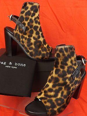 NIB RAG & BONE WYATT LEOPARD PRINT PONY HAIR BELTED SANDALS PUMPS 37.5 $595