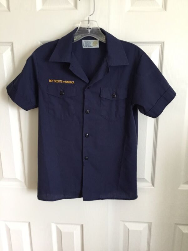 BSA Navy Blue Cub Scout Official Youth Shirt Size Youth Medium