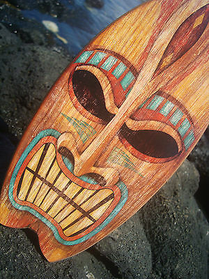 ANGRY TIKI GOD TROPICAL HAWAIIAN ISLAND SURFBOARD SIGN Beach Bar Wood Decor NEW](Hawaiian Home Decor)
