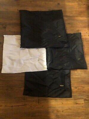 Fendi Dust Bag- Drawstring Protection Tote Bag Storage LOT OF 4