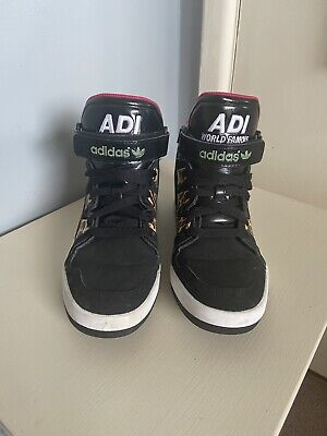 Adidas Leopard/Black High Tops size 5