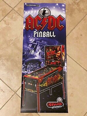 AC/DC Stern Pinball Vinyl Banner 13x33 Inches