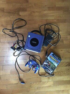 CONSOLE NINTENDO GAMECUBE + GIOCHI + CAVI Colore Lilla Originale Funzionante for sale  Shipping to Nigeria