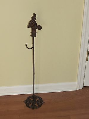 Antique Authentic Victorian Cast Iron Wreath Hanger Holder Floral Display Stand