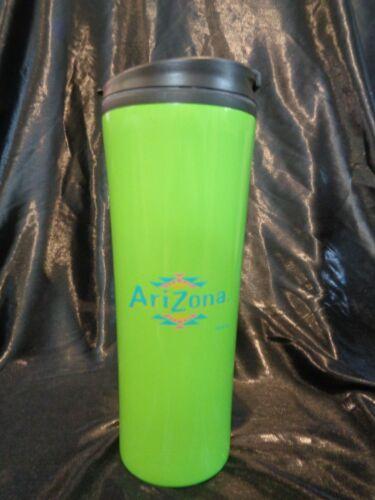 ARIZONA Travel Mug Green Cup Insluated Iced Tea Medium Size 16oz Container