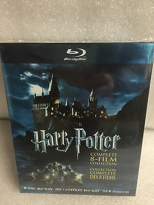 HARRY POTTER BLU RAY 8 FILM COLLECTION COMPLETE SERIES 8 DISC SET NEW Sealed