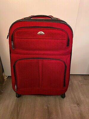 Samsonite Expandable Softside Suitcase Spinner Wheels 25 Inch Red
