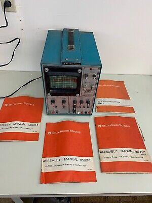 Bell Howell Schools Heathkit Vintage Oscilloscope- Works - Instruction Manua