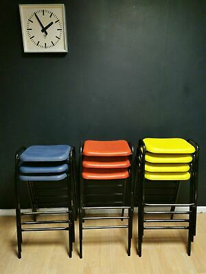 Vintage school stacking stools