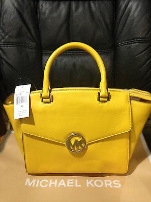 Michael Kors Authentic Women's genuine leather Large Satchel handbag purse $398+