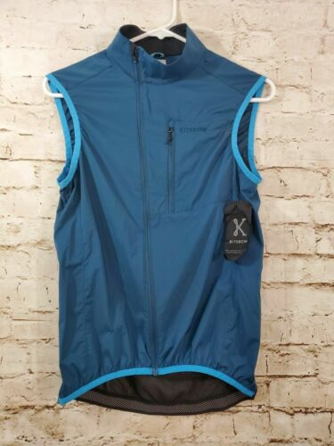 Kitsbow Wind Vest Men XS Blue NWT Cycling