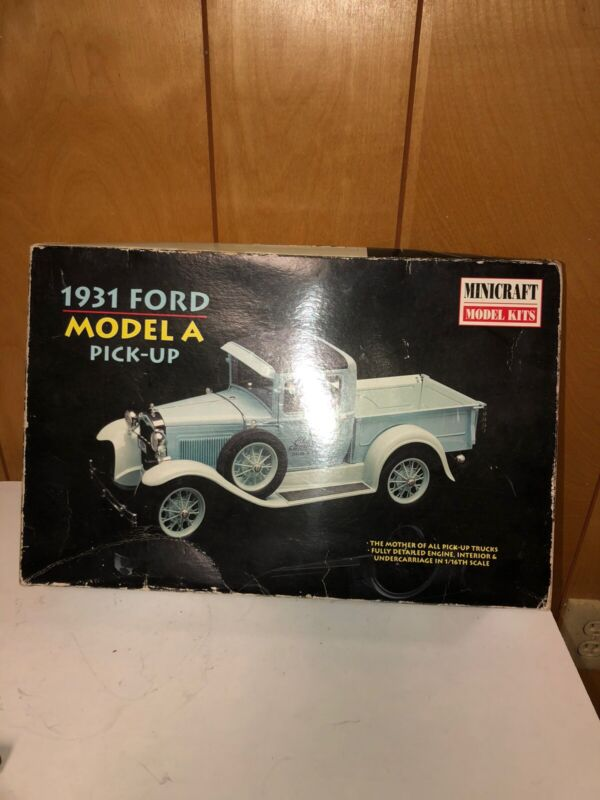 Model Kit Scale Minicraft Model Kits 1931 Ford Model A Pickup Truck