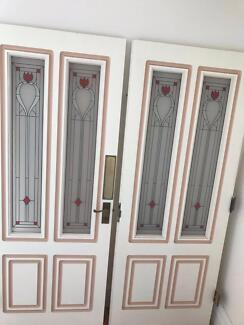 Pair of antique timber French doors with leadlight glass insert. & leadlight doors in Sydney Region NSW | Home u0026 Garden | Gumtree ... pezcame.com