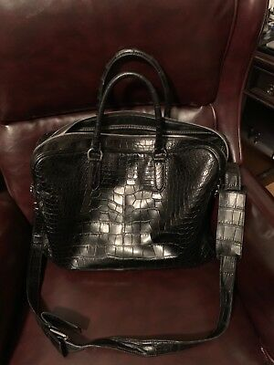7181c994747 Ralph Lauren Alligator Black Commuter Bag Briefcase- 22,000 Retail