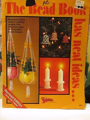 Vintage 1970's The bead Book Has neat ideas ornaments plant hangers pattern