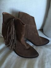 Cuban heel fringe suede boots Bronte Eastern Suburbs Preview