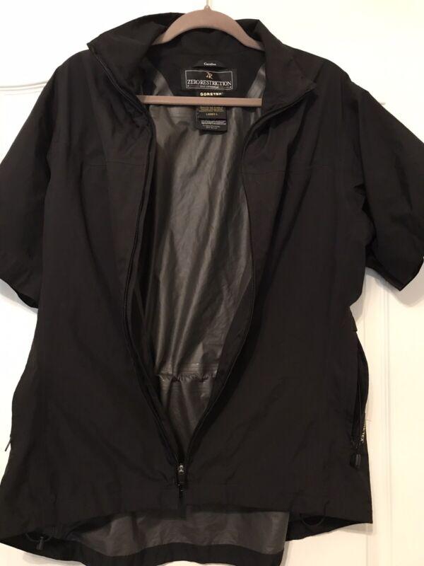 Zero Restriction Womens Caroline Short Sleeve Wind Jacket in Black~LARGE ~NWOT