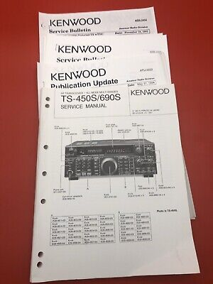 Kenwood TS-450S TS-690S CD OWNER/'S /& SERVICE MANUALS TECH BRO Radio ON CD ONLY