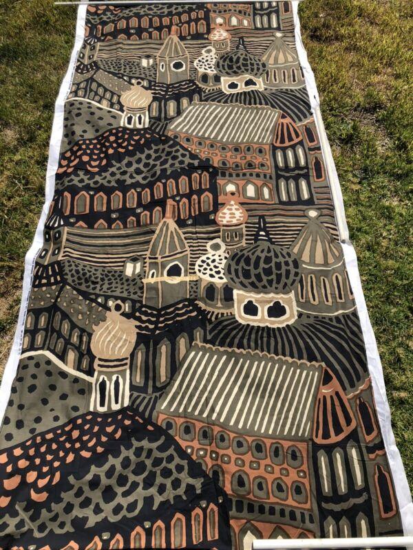 """Vintage 1971 Marimekko Yardage Fabric """"Kumiseva"""" by Katsuji Wakisaka 120"""" 10ft"""