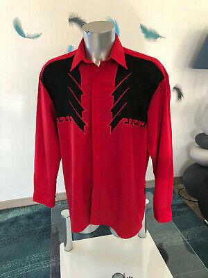Luxueuse chemise rouge et noir versace couture jeans taille l neuve
