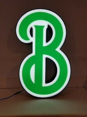 Letters Sign Channel Letter B Led Lights Signage Green And White