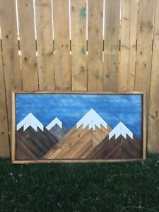 Mountain landscape wall hanging