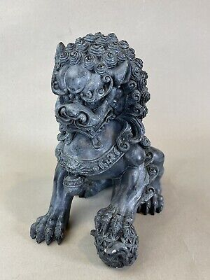 Qilin China Element of Sterling Silver set representing the dog of Fo Antique Chinese silver Qilin lucky Talisman