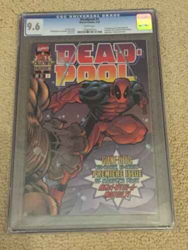 Deadpool 1 CGC 9.6 White Pages (1st Deadpool solo title!!)